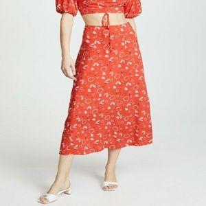 Free People Danni Jane Printed Skirt 4 Floral